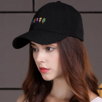 Hat polyester fiber Dark black dark gray off white pink dark blue M(56-58cm) Baseball cap Autumn and winter female Sweet and lovely Young lovers dome