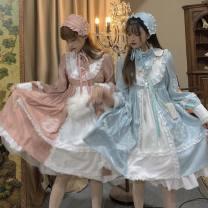 Dress Autumn of 2019 Water dress, Rose Dress Large, small sks1284