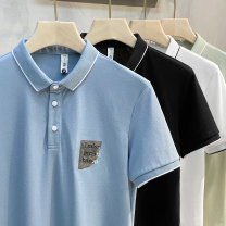 Polo shirt Ekecel Youth fashion routine Blue black white light green S M L XL 2XL standard Other leisure summer Short sleeve DTL8805 Youthful vigor routine youth Cotton 100% Color block cotton Mercerization Embroidery Summer 2021 Pure e-commerce (online only) More than 95%