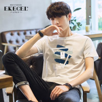T-shirt Youth fashion routine M L XL 2XL 3XL 4XL Ekecel Short sleeve Crew neck easy Other leisure summer DT7029.. Cotton 100% teenagers routine tide Knitted fabric Spring 2020 Geometric pattern printing cotton Geometric pattern Fashion brand Pure e-commerce (online only) More than 95%