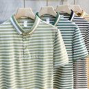 Polo shirt Ekecel Youth fashion routine Light green stripe black stripe green stripe Khaki stripe M L XL 2XL 3XL standard Other leisure summer Short sleeve DTT9967 routine youth Viscose fiber (viscose fiber) 47.5% cotton 45% polyurethane elastic fiber (spandex) 7.5% Summer 2021