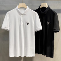 Polo shirt Ekecel Youth fashion routine White black M L XL 2XL 3XL Self cultivation go to work DTTB14 youth Cotton 33 %  Regenerated cellulose fiber 33 %  Polyester 29 %  Polyurethane elastic fiber ( spandex ) five % Cotton polyester Spring 2021