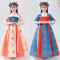 Tang costume 110,120,130,140,150,160 Polyester 100% female summer There are models in the real shooting routine Cotton blended fabric Class B printing 7, 8, 14, 6, 13, 11, 5, 4, 10, 9, 12 Chinese Mainland