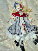 Dress Autumn of 2018 red Six, two, three, four, four, giant baby, three Mid length dress other Nine point sleeve Sweet Crew neck middle-waisted Decor other Big swing puff sleeve Others Type X Mushroom hunting doll other
