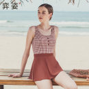 one piece  Playing chess Skirt one piece With chest pad without steel support Nylon, spandex and others EZI19w087 Summer of 2019 no female Sleeveless Casual swimsuit Solid color lattice backless