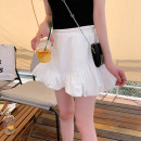 skirt Spring 2021 M, L White, black Short skirt Versatile High waist Princess Dress Solid color Type A MQ211096 31% (inclusive) - 50% (inclusive) other Dreamers