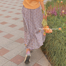 skirt Spring 2021 Average size Apricot, purple, green, pink Mid length dress commute High waist A-line skirt Broken flowers Type A MQ211059 31% (inclusive) - 50% (inclusive) Dreamers lady