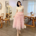 skirt Summer 2020 S87 M87 L87 XL87 What color do you like for gouache Mid length dress Versatile High waist Cake skirt Solid color Type A 25-29 years old G2020B8 More than 95% Evelyn polyester fiber Polyester 100% Exclusive payment of tmall