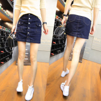 skirt Summer 2021 S,M,L,XL,2XL,3XL navy blue Short skirt sexy Natural waist A-line skirt Solid color Type A 18-24 years old 81% (inclusive) - 90% (inclusive) other other pocket 161g / m ^ 2 (including) - 180g / m ^ 2 (including)