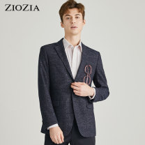man 's suit ZIOZIA Fashion City routine Polyester 95% polyurethane elastic fiber (spandex) 5% Summer 2017 Self cultivation Double breasted Other leisure Double slit Same model in shopping mall (sold online and offline) youth Long sleeves summer routine Business Casual Casual clothes Flat lapel other