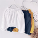 trousers Other / other neutral 90cm,100cm,110cm,120cm,130cm,140cm,150cm White, yellow, dark grey summer Cropped Trousers leisure time No model Casual pants Leather belt middle-waisted cotton Don't open the crotch other other