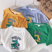 T-shirt White, green, ginger, blue purple Other / other 90cm,100cm,110cm,120cm,130cm,140cm,150cm neutral summer Short sleeve leisure time No model nothing cotton other Sweat absorption 18 months, 2 years old, 3 years old, 4 years old, 5 years old, 6 years old, 7 years old, 8 years old, 9 years old