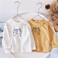 T-shirt White, yellow Other / other 80cm,90cm,100cm,110cm,120cm,130cm,140cm,150cm neutral spring and autumn Long sleeves leisure time No model nothing cotton other Sweat absorption 18 months, 2 years old, 3 years old, 4 years old, 5 years old, 6 years old, 7 years old, 8 years old, 9 years old