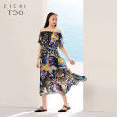 Dress Summer of 2019 Black pattern 34 155/80A/S 160/84A/M 165/88A/L 170/92A/XL longuette singleton  Short sleeve Lotus leaf collar middle-waisted other Socket Ruffle Skirt routine 25-29 years old Type X Eichitoo / Aiju rabbit Lotus leaf edge EQLBJ2J032A More than 95% other polyester fiber