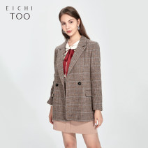 suit Spring 2021 Khaki 01 155/80A/S 160/84A/M 165/88A/L Long sleeves routine easy tailored collar double-breasted routine lattice EWXSJ1L001A 25-29 years old 30% and below polyester fiber Eichitoo / Aiju rabbit Polyester 28% viscose 19% others 53%