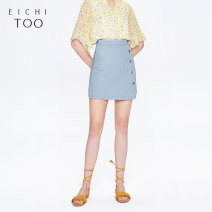 skirt Summer of 2019 155/64A/S 160/68A/M 165/72A/L 170/76A/XL Denim 09 Short skirt Natural waist A-line skirt other Type A 25-29 years old EQDNJ2J009A More than 95% other Eichitoo / Aiju rabbit cotton Cotton 100% Same model in shopping mall (sold online and offline)