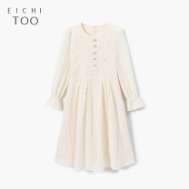 Dress Spring 2021 155/80A/S 160/84A/M 165/88A/L Mid length dress singleton  Long sleeves Crew neck middle-waisted Solid color Socket other routine 25-29 years old Type A Eichitoo / Aiju rabbit Lace 71% (inclusive) - 80% (inclusive) other cotton Cotton 75% polyamide 25%