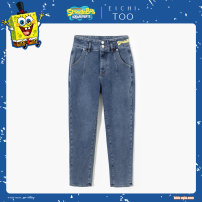 Jeans Spring 2021 Dark blue 23 155/64A 160/66A 160/68A 165/72A 170/74A 170/76A trousers Natural waist Straight pants routine 25-29 years old washing EKNAJ1L823A Eichitoo / Aiju rabbit Cotton 68% polyester 25% viscose 5% polyurethane elastic 2% Same model in shopping mall (sold online and offline)