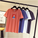 Women's large Summer 2020, spring 2020 Large XL, large XXL, large XXL, large XXXXL, large XXXXL T-shirt singleton  Sweet easy moderate Socket Short sleeve Crew neck routine cotton Love rhyme 91% (inclusive) - 95% (inclusive) Cotton 71% - 80%