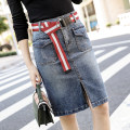 skirt Summer 2020 S [90-100 Jin], m [100-110 Jin], l [110-120 Jin], XL [120-135 Jin], 2XL [135-150 Jin], 3XL [150-165 Jin], 4XL [165-175 Jin], 5XL [175-200 Jin] Blue, light blue, gray Middle-skirt fresh High waist Denim skirt other Type H 18-24 years old 51% (inclusive) - 70% (inclusive) Denim JSWETR