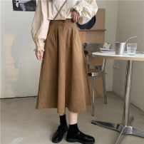 skirt Autumn 2020 S [80-95 Jin], m [90-105 Jin], l [100-115 Jin], XL [110-130 Jin], 2XL [125-145 Jin], 3XL [140-160 Jin], 4XL [155-175 Jin], 5XL [170-200 Jin] Khaki, black, green Mid length dress fresh High waist A-line skirt other Type A 18-24 years old 71% (inclusive) - 80% (inclusive) Denim JSWETR