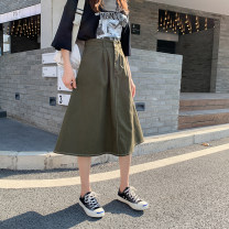 skirt Spring 2021 S [90-100 kg], m [100-110 Jin], l [110-120 Jin], XL [120-135 Jin], 2XL [135-145 Jin], 3XL [145-160 Jin], 4XL [160-175 Jin], 5XL [175-200 Jin] Apricot, green, black Mid length dress commute High waist A-line skirt Solid color Type A 18-24 years old 81% (inclusive) - 90% (inclusive)
