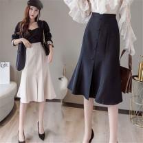 skirt Summer 2020 S M L XL Middle-skirt High waist