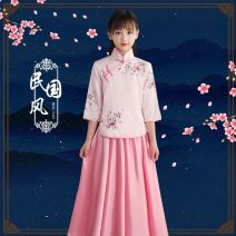 Children's performance clothes Sky blue pink female 120cm 130cm 140cm 150cm 160cm【S】 165cm【M】 170cm【L】 Snow dancing lovers Class C 3B01B29 other Other 100% other Fall 2017
