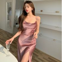 Dress Summer 2021 Picture color Average size longuette singleton  Sleeveless other High waist Solid color Socket other camisole 18-24 years old Type A Other / other ZXJ5545 30% and below other other