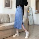 skirt Summer 2021 S,M,L Blue, black longuette commute High waist A-line skirt Type A 18-24 years old ysg8379 81% (inclusive) - 90% (inclusive) other Other / other other Korean version