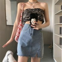 skirt Summer 2021 S,M,L blue Short skirt Versatile Natural waist A-line skirt Type H 18-24 years old lym15208 71% (inclusive) - 80% (inclusive) other Other / other