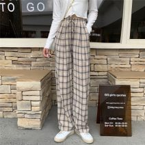 Casual pants Apricot blue , Blue with pink , Light blue coffee S,M,L Summer 2021 trousers loose  High waist commute routine 18-24 years old 30% and below ysg8400 Other / other Korean version