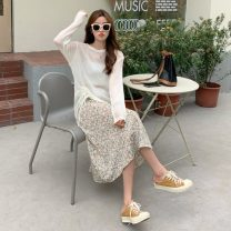 Fashion suit Summer 2021 Average size White sun shirt, grapefruit sun shirt, white floral skirt, apricot floral skirt 18-25 years old Other / other ysg7734 96% and above
