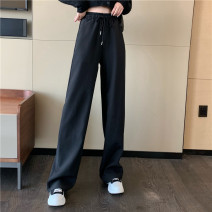 Casual pants White, black Average size Summer 2021 trousers Straight pants High waist Versatile 18-24 years old 30% and below Other / other