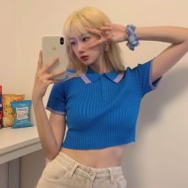 T-shirt Orange, white, purple, blue Average size Summer 2021 Short sleeve Self cultivation have cash less than that is registered in the accounts commute Viscose 71% (inclusive) - 85% (inclusive) 18-24 years old Korean version Other / other lym12338