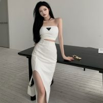 Fashion suit Summer 2021 S, M White bra , Black bra , White skirt , Black skirt 18-25 years old Other / other ZXJ6029 30% and below