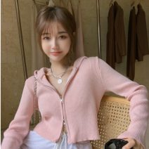 Wool knitwear Autumn 2021 Average size Gray, white, black, pink Long sleeves singleton  Cardigan other 31% (inclusive) - 50% (inclusive) have cash less than that is registered in the accounts routine Self cultivation lym13407 18-24 years old Other / other