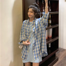 Fashion suit Spring 2021 Average size Grey T-shirt skirt, black T-shirt skirt, blue T-shirt skirt, white plaid shirt, Black Plaid shirt, blue plaid shirt 18-25 years old Other / other lym14655 31% (inclusive) - 50% (inclusive)
