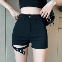 Casual pants black S,M,L Summer 2021 shorts loose  High waist Versatile routine 18-24 years old 30% and below LXJ4017 Other / other cotton pocket