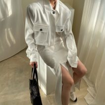 Fashion suit Spring 2021 Average size Yellow skirt m, yellow skirt s, Black Skirt M, black skirt s, white skirt m, white skirt s, yellow coat, black coat, white coat 18-25 years old 81% (inclusive) - 90% (inclusive) polyester fiber