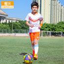 Football clothes XS S M L XL children Orange fire Player Edition Short suit Home court Summer of 2018 Barcelona