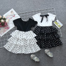 Dress female Other / other 80cm,90cm,100cm,110cm,120cm,130cm Cotton 60% other 40% summer princess Short sleeve Dot cotton Cake skirt Class B 18 months, 2 years old, 3 years old, 4 years old, 5 years old, 6 years old, 7 years old Chinese Mainland Zhejiang Province Huzhou City
