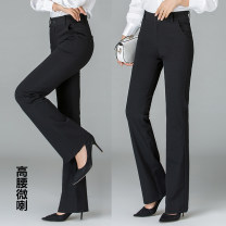 Casual pants black One, two, three, four, five, six, seven Spring 2021 trousers Wide leg pants High waist Versatile routine 81% (inclusive) - 90% (inclusive) Girdard / brother-in-law nylon nylon