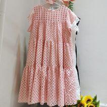 Dress Summer 2020 White, black, pink Average size Mid length dress