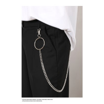 Belt / belt / chain Metal 1 without circle 2 with circle currency Waist chain Hip hop Youth Glossy surface 1cm stainless steel chain Other / other