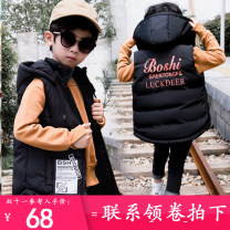 Vest male Black, Navy, army green 120cm, 130cm, 140cm, 150cm, 160cm, 170cm, 180cm, choose two sizes according to height Doctor prodigy winter thickening There are models in the real shooting zipper leisure time chemical fiber Polyester 100% Class C other Cotton liner Chinese Mainland