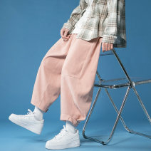 Casual pants Eye burst Youth fashion M L XL 2XL XXXL routine trousers Other leisure easy No bullet Four seasons Large size Youthful vigor 2021 middle-waisted Little feet Cotton 95% other 5% Haren pants Arrest line No iron treatment other other cotton Summer 2021 Pure e-commerce (online only)