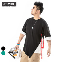 T-shirt L92JT1455 Cotton 100% Large size routine Youthful vitality elbow sleeve routine daily Youth fashion easy Jsmix Crew neck summer Alphanumeric cotton The thought of writing Color contrast other More than 95% 2019 40. 2XL, 3XL, 4xl-bust 136CM, 5xl-bust 141cm, 6xl-bust 146cm, 7xl-bust 151cm