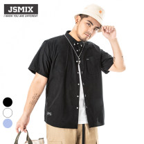 shirt Large size Youthful vitality 2019 Solid color washing cotton other More than 95% routine daily Pointed collar (regular) Youth fashion standard Short sleeve Jsmix summer Z92JC1388 Cotton 100% XL,2XL,3XL,4XL,5XL,6XL,7XL Off white, light blue, black
