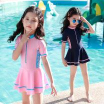 Children's swimsuit / pants Xaler / Charlotte XL (height 105-115cm) 2XL (height 115-125cm) 3XL (height 125-135cm) 4XL (height 135-145cm) 5XL (height 145-160cm) Navy / long sleeve Pink / long sleeve Navy / short sleeve Pink / short sleeve Leisure surf swimsuit children's split swimsuit female no